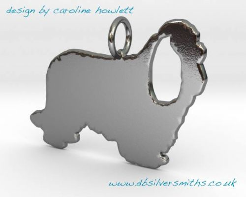 Cavalier King Charles Charm silhouette solid sterling silver